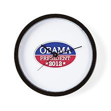 Obama President 2012 Wall Clock