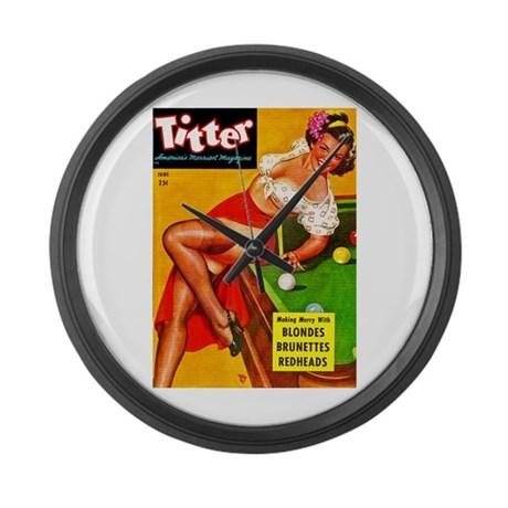 Titter Pool Table Vintage Pin Up Girl Large Wall C