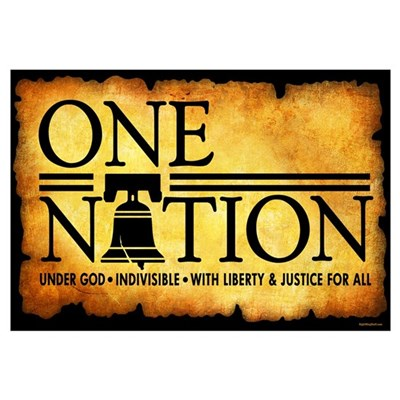 One Nation - Parchment Canvas Art