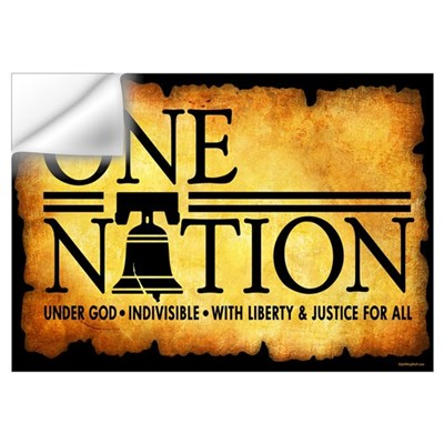 One Nation - Parchment Wall Decal