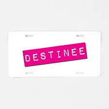 Destinee Punchtape Aluminum License Plate