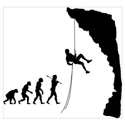 Rock Climbing Framed Print