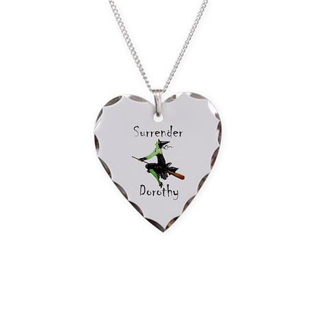 Surrender Dorothy Necklace Heart Charm