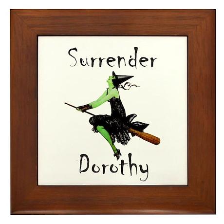 Surrender Dorothy Framed Tile