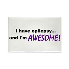 Awesome With Epilepsy Rectangle Magnet