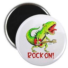 Rock On Dinosaur Magnet