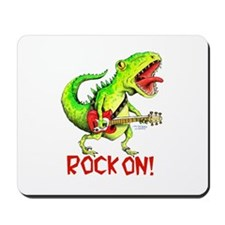 Rock On Dinosaur Mousepad