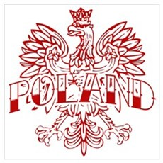 Poland Ink Red Eagle Poster