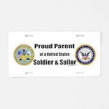 Proud Parent of a U.S. Soldier and Sailor Aluminum