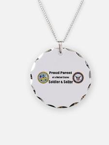 Proud Parent of a U.S. Soldier and Sailor Necklace