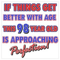 Funny 98th Birthdy designs Poster