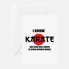 I know karate Greeting Card