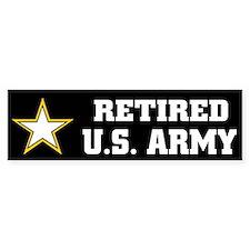 Retired U.S. Army Bumper Bumper Sticker