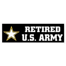 Retired U.S. Army Car Car Sticker