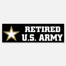 Retired U.S. Army Car Car Sticker