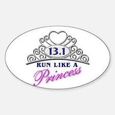 Run Like A Princess Sticker (Oval)