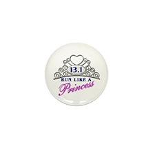 Run Like A Princess Mini Button (10 pack)