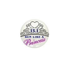 Run Like A Princess Mini Button