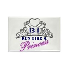 Run Like A Princess Rectangle Magnet