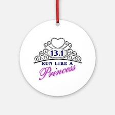 Run Like A Princess Ornament (Round)