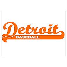 Detroit Baseball Script Poster