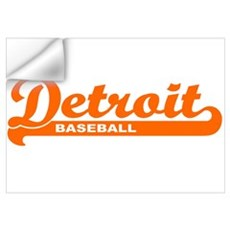 Detroit Baseball Script Wall Decal
