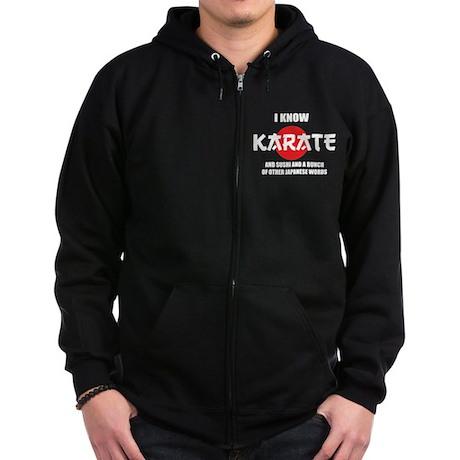 I know karate Zip Hoodie (dark)