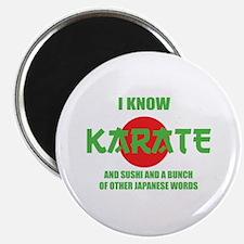 "I know karate 2.25"" Magnet (10 pack)"