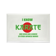 I know karate Rectangle Magnet (10 pack)