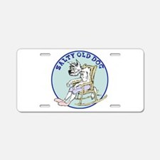 Salty Old Dog Aluminum License Plate