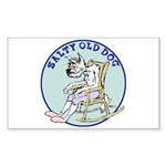 Salty Old Dog Sticker (Rectangle)