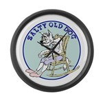 Salty Old Dog Large Wall Clock