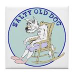 Salty Old Dog Tile Coaster