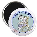 """Salty Old Dog 2.25"""" Magnet (10 pack)"""