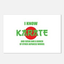 I know karate Postcards (Package of 8)