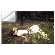 Ophelia Lying in the Meadow Wall Decal