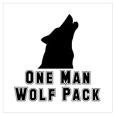 One Man Wolf Pack Framed Print