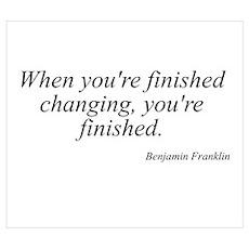 Benjamin Franklin quote 183 Poster