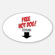 Free hot dog! Sticker (Oval)
