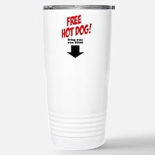 Free hot dog! Stainless Steel Travel Mug