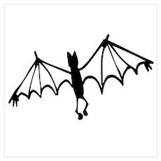 Groovy Halloween Bat Poster