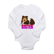Shetland Sheepdog Sister Long Sleeve Infant Bodysu