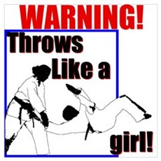 Throws Like a Girl Canvas Art