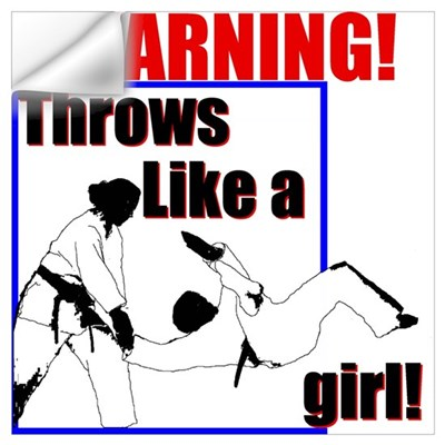 Throws Like a Girl Wall Decal
