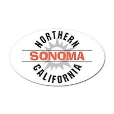 Sonoma California 22x14 Oval Wall Peel