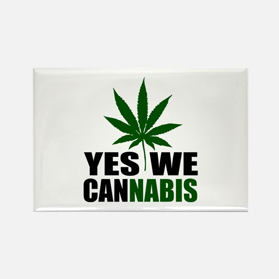 Yes we cannabis Rectangle Magnet