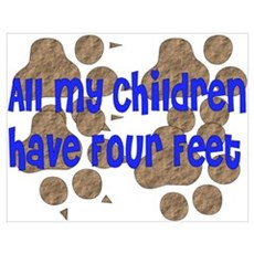 Four-Footed Children Poster