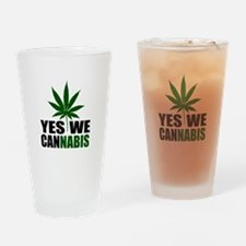 Yes we cannabis Drinking Glass