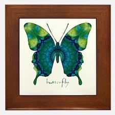 Meditation Butterfly Framed Tile