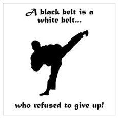 Black Belt Refusal Poster